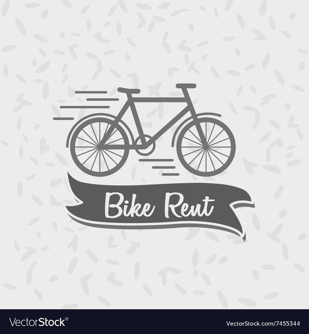 Logo sign or badge template bicycle and the words