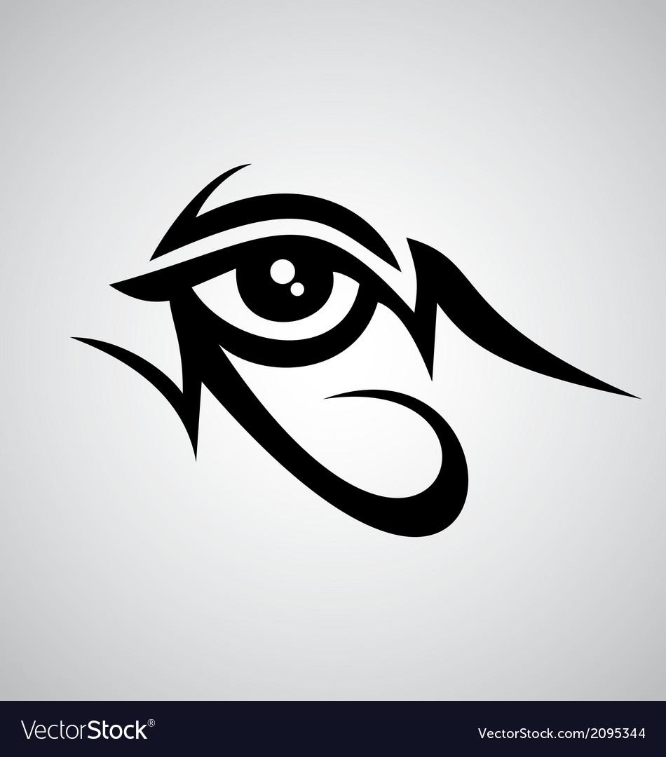 tribal eyes royalty free vector image vectorstock rh vectorstock com eye vector image eye vector free