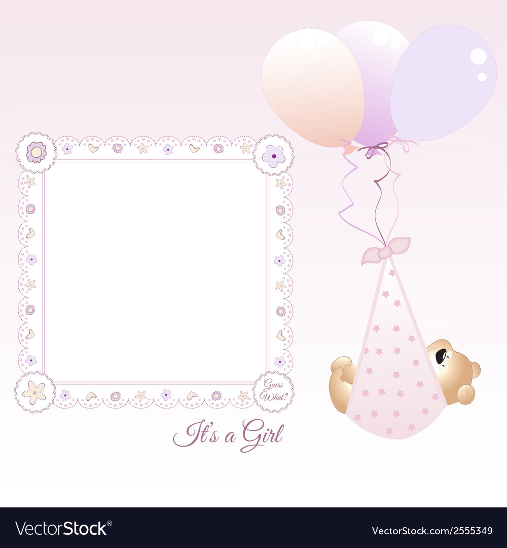 baby girl announcement royalty free vector image