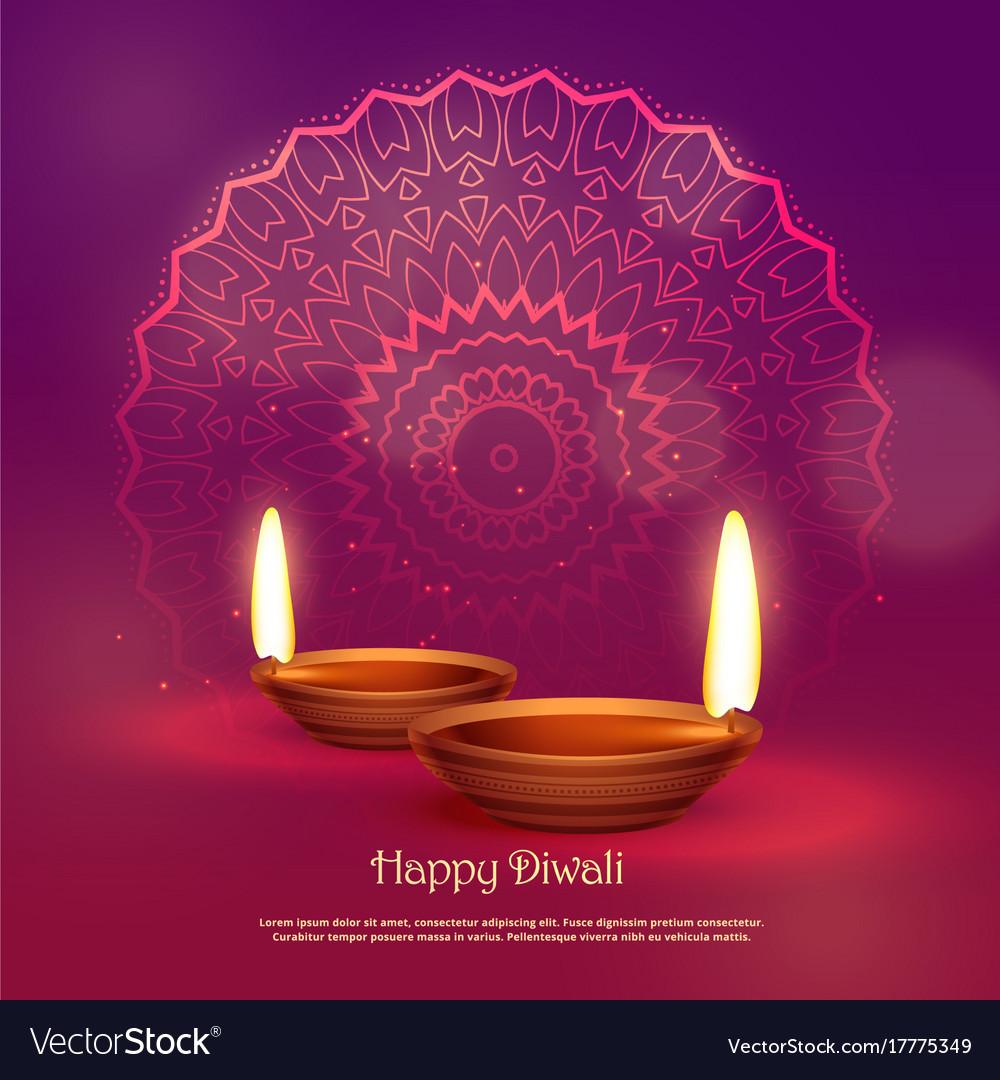 Beautiful hindu festival of diwali background