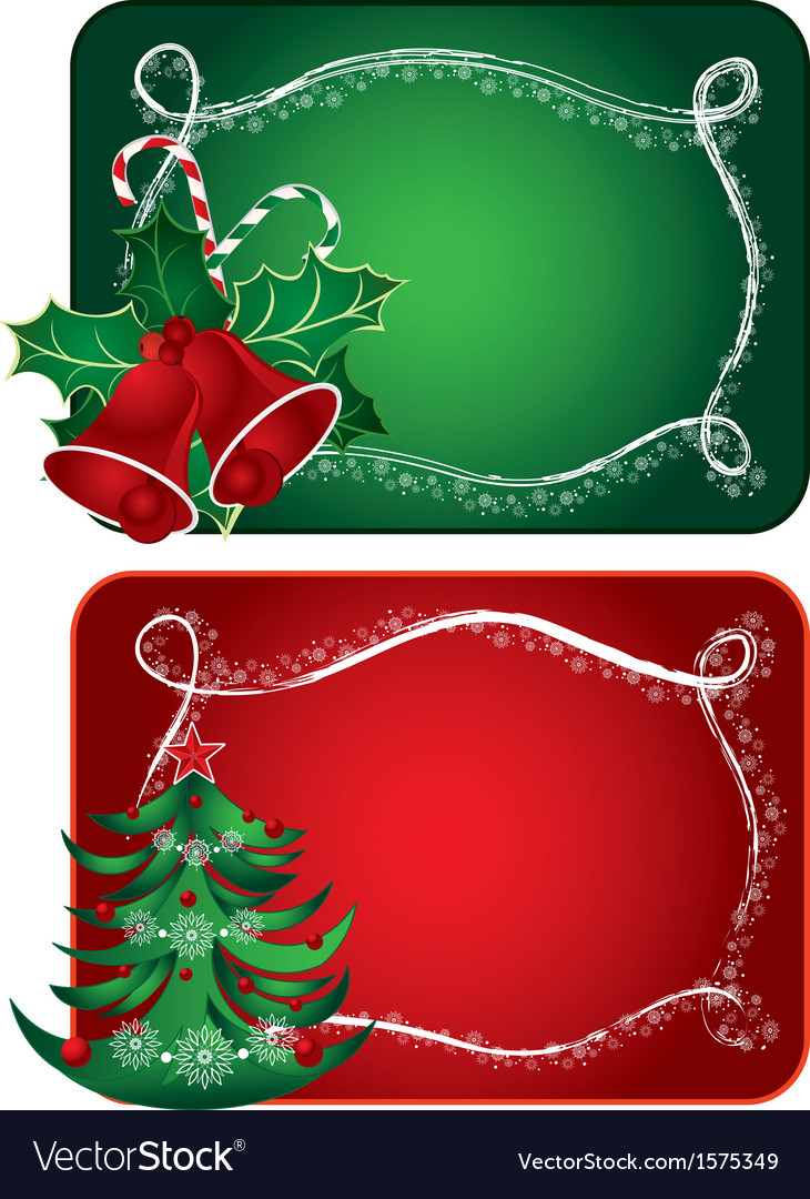 Christmas cards Royalty Free Vector Image - VectorStock