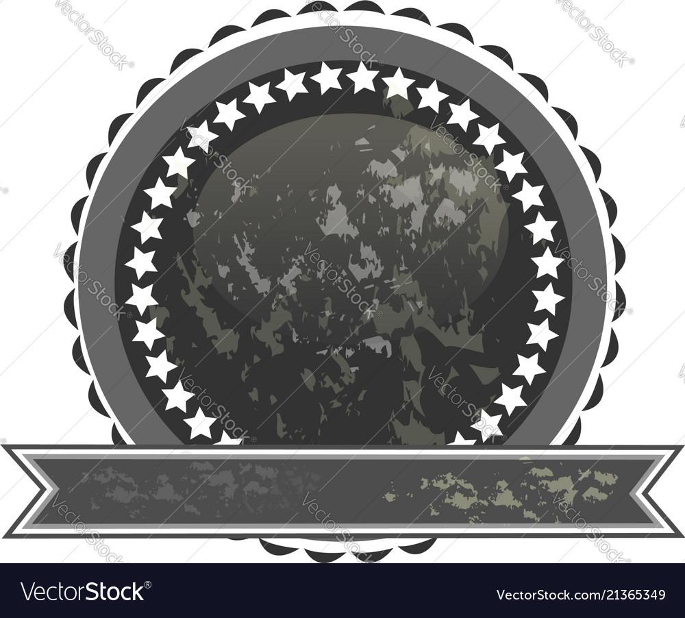 Dark label seal icon vector image