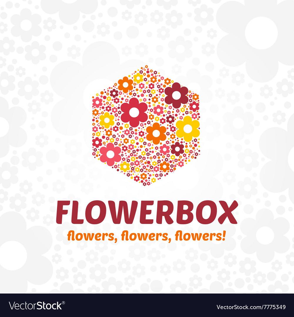 Logo flower box