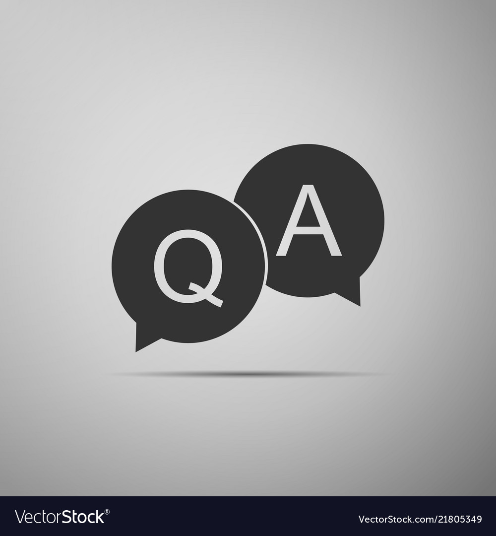 Question and answer mark in speech bubble icon