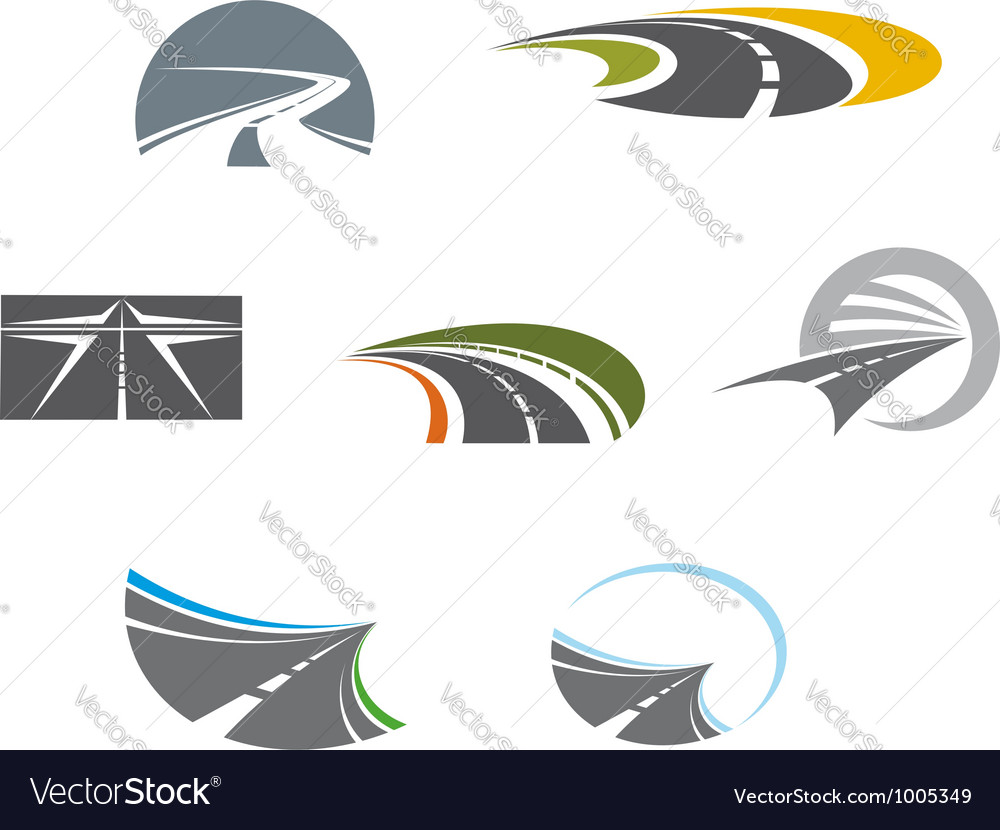 Road symbols and pictograms vector image