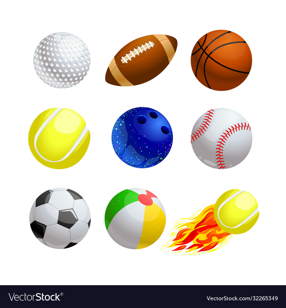 Set cartoon balls for sport and leisure golf