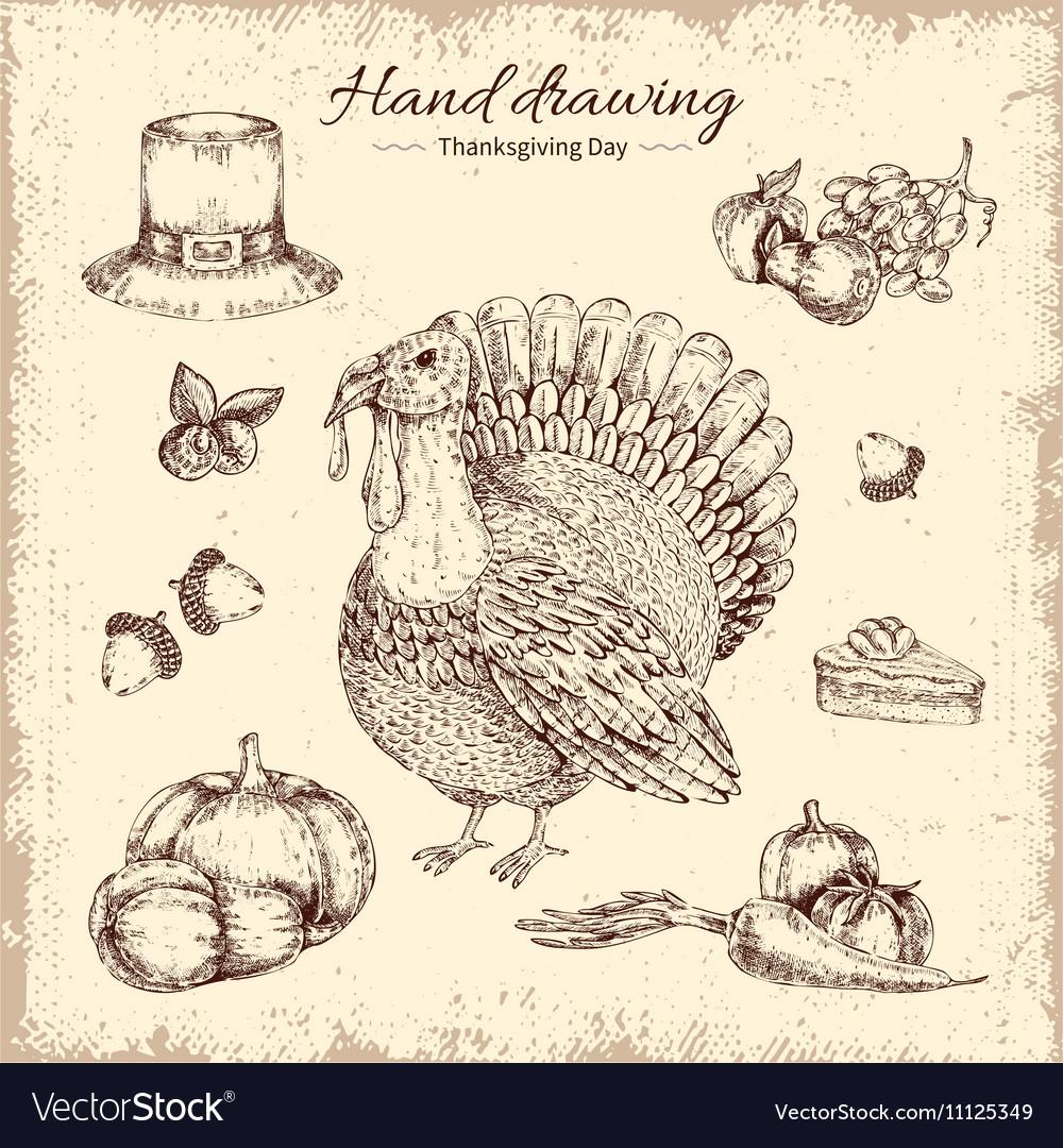 Thanksgiving Day Hand Drawn