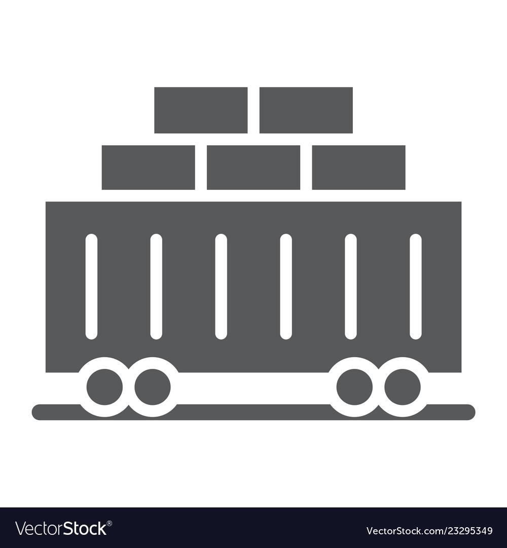 Train cargo glyph icon transport and logistics