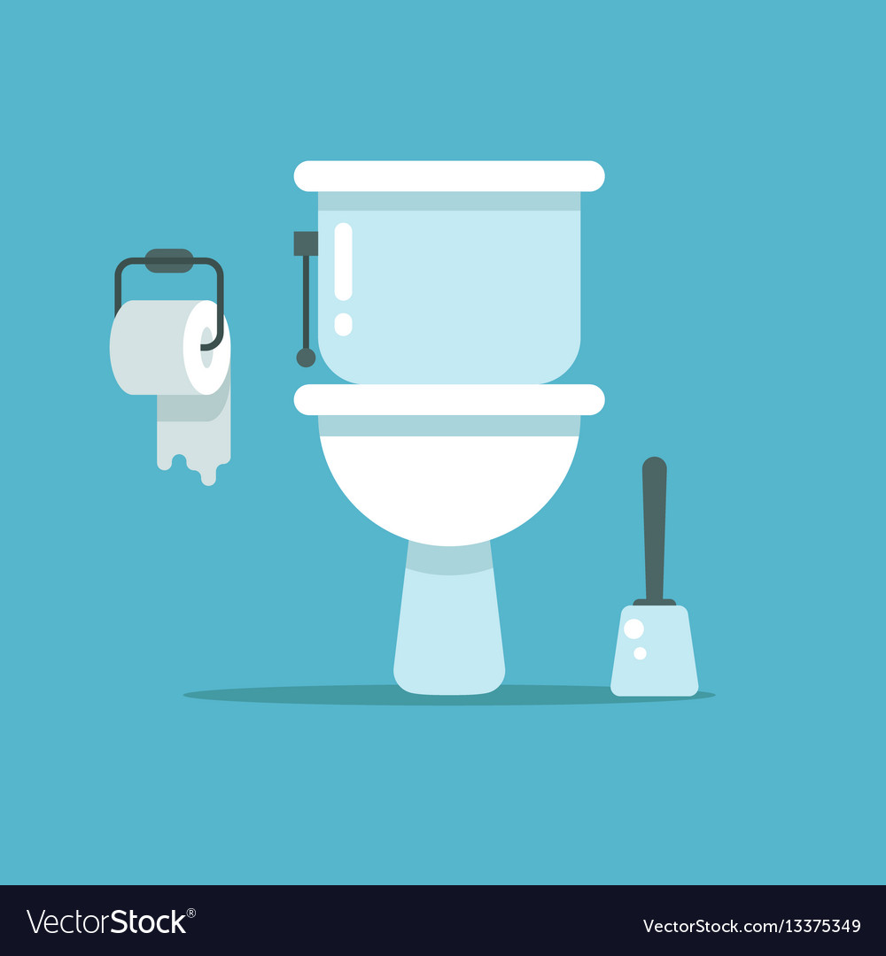Washroom toilet bowl bidet with with toilet Vector Image