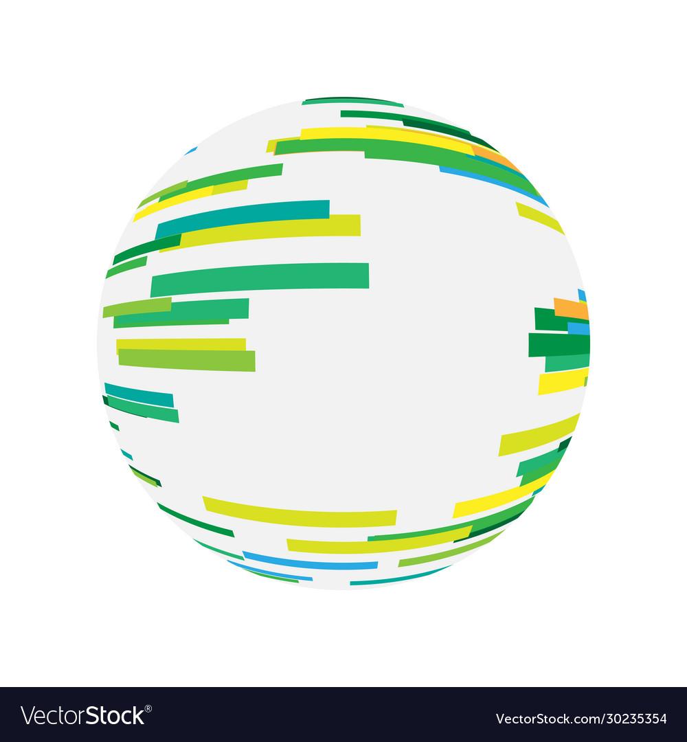Abstract digital sphere technology logo