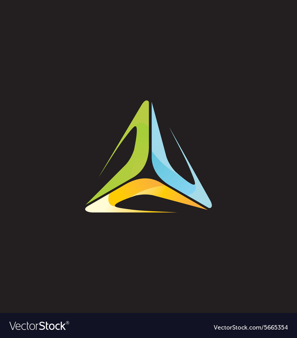 Abstract triangle colorful technology logo