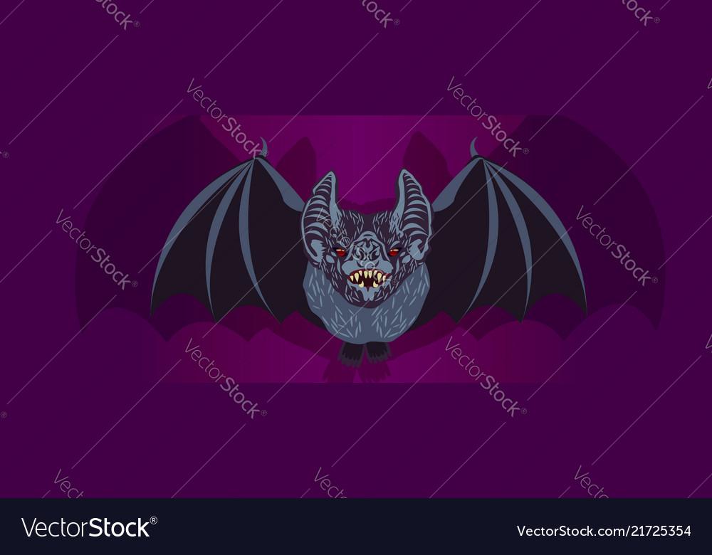 Bat halloween theme