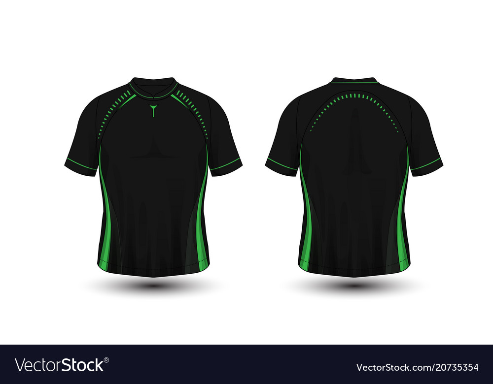 91649456273 Black and green layout football sport t-shirt Vector Image