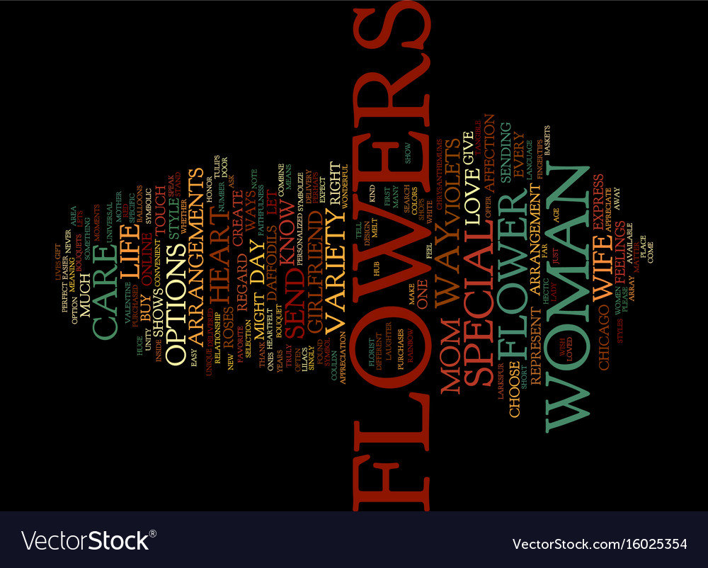 Flowers to touch the heart text background word vector image
