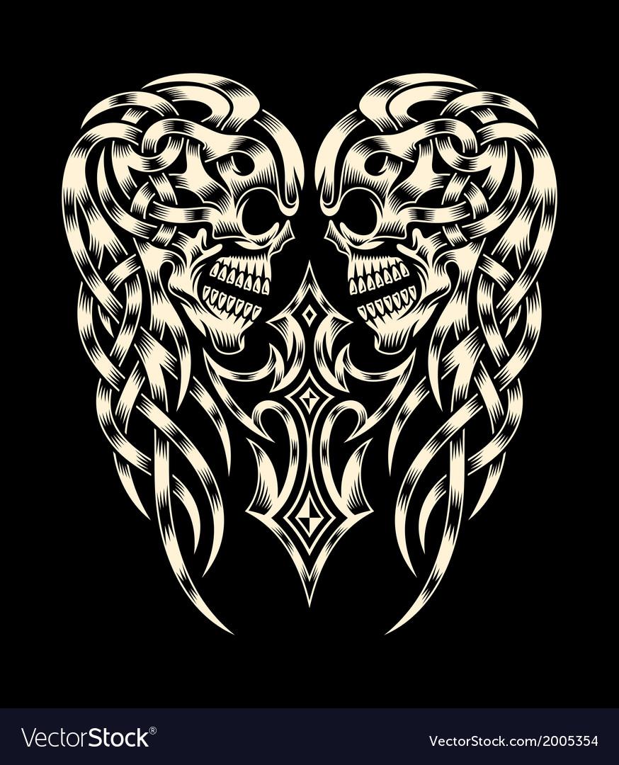 Ornate Skull With Cross