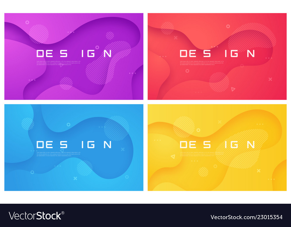 Set of abstract gradient geometric designs
