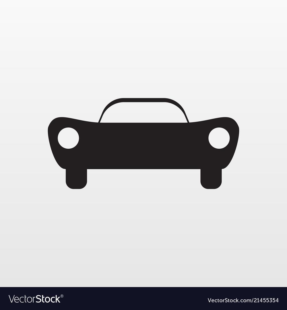 Sport car icon flat symbol auto isolated o