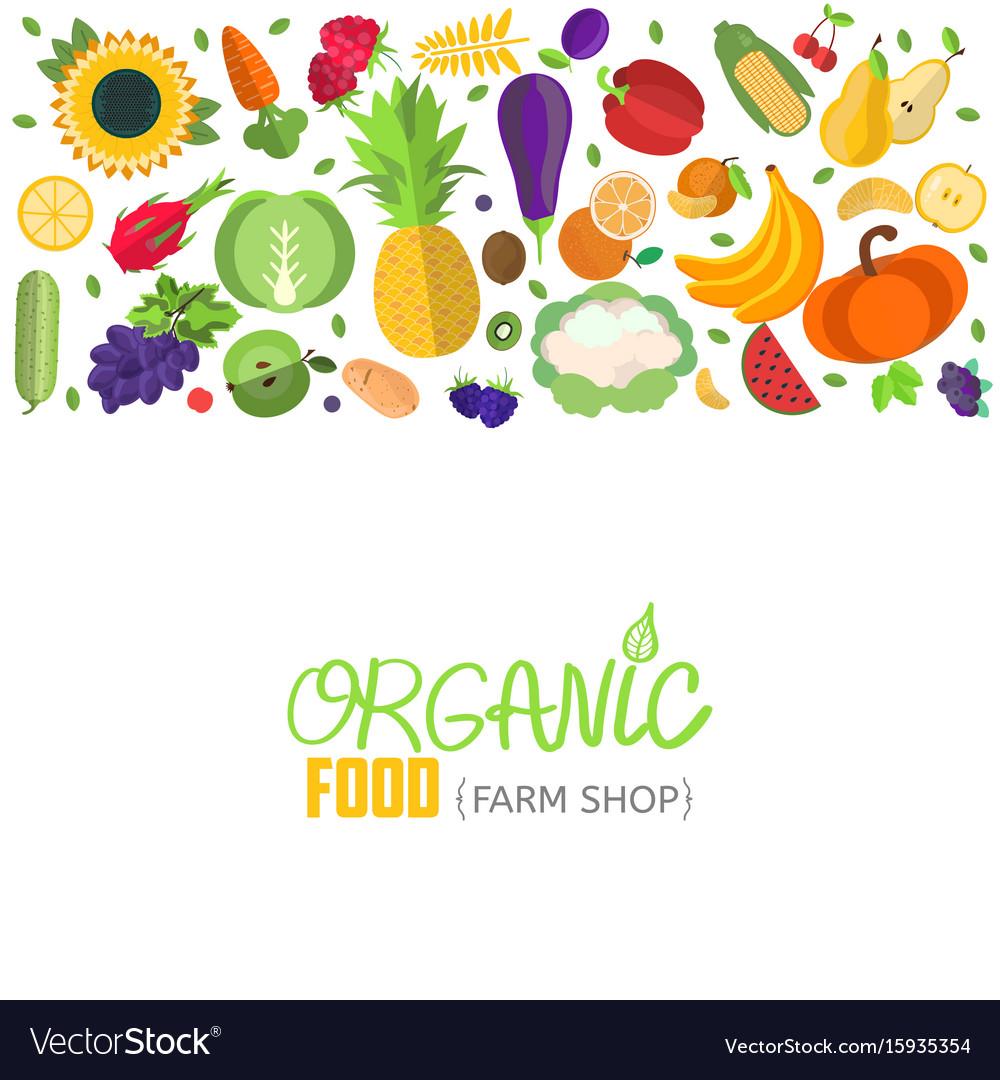 Vegetables and fruits header