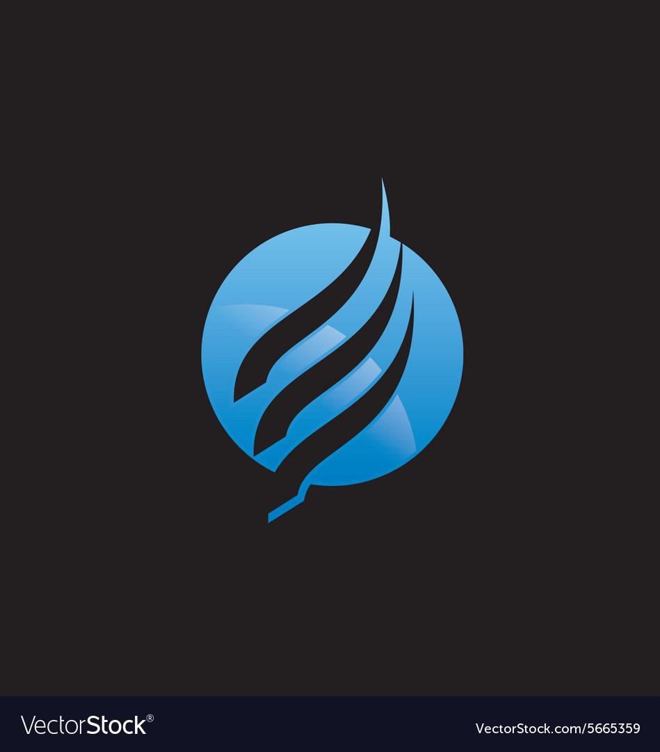 Air flow round technology logo