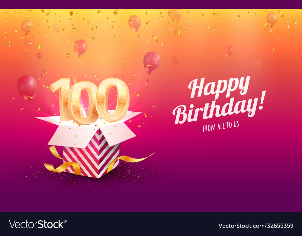 Celebrating 100th years birthday