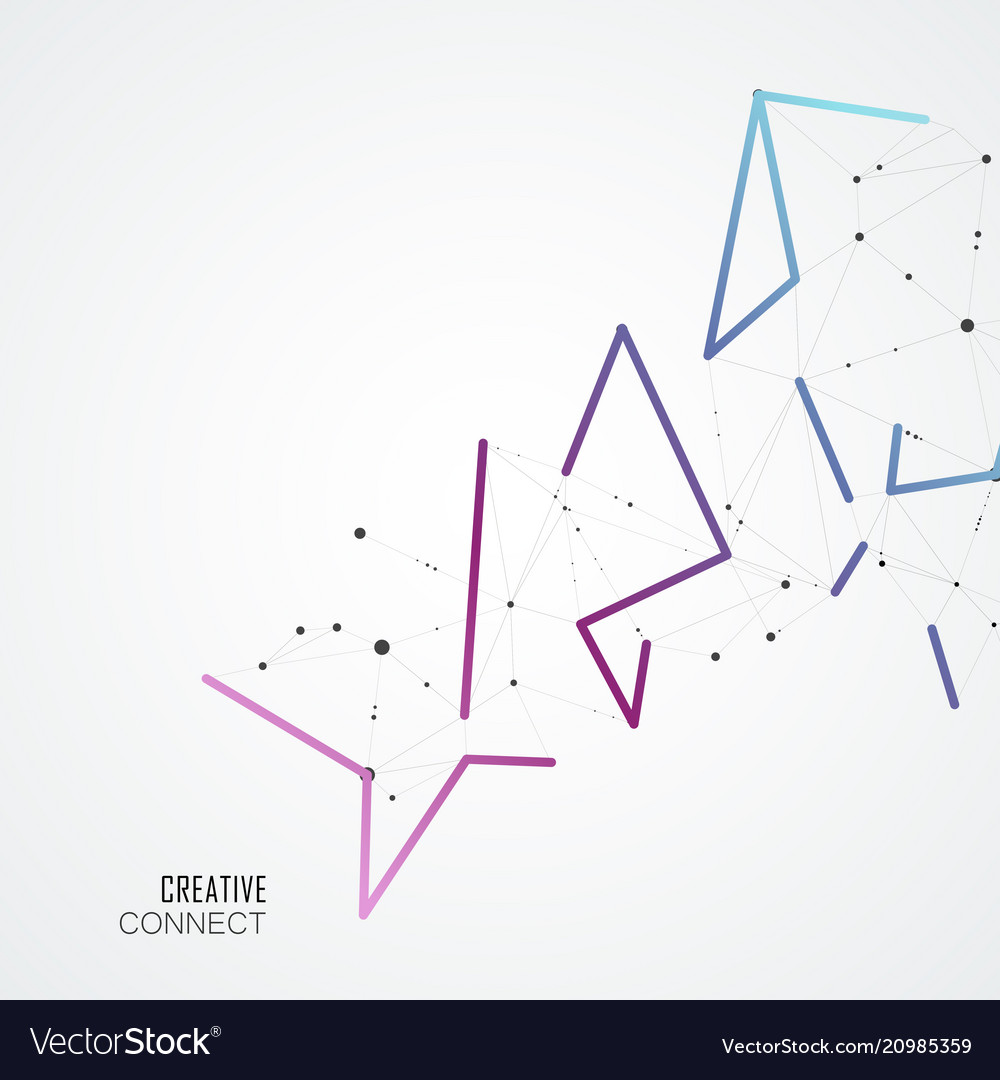 Color connect lines and molecules background