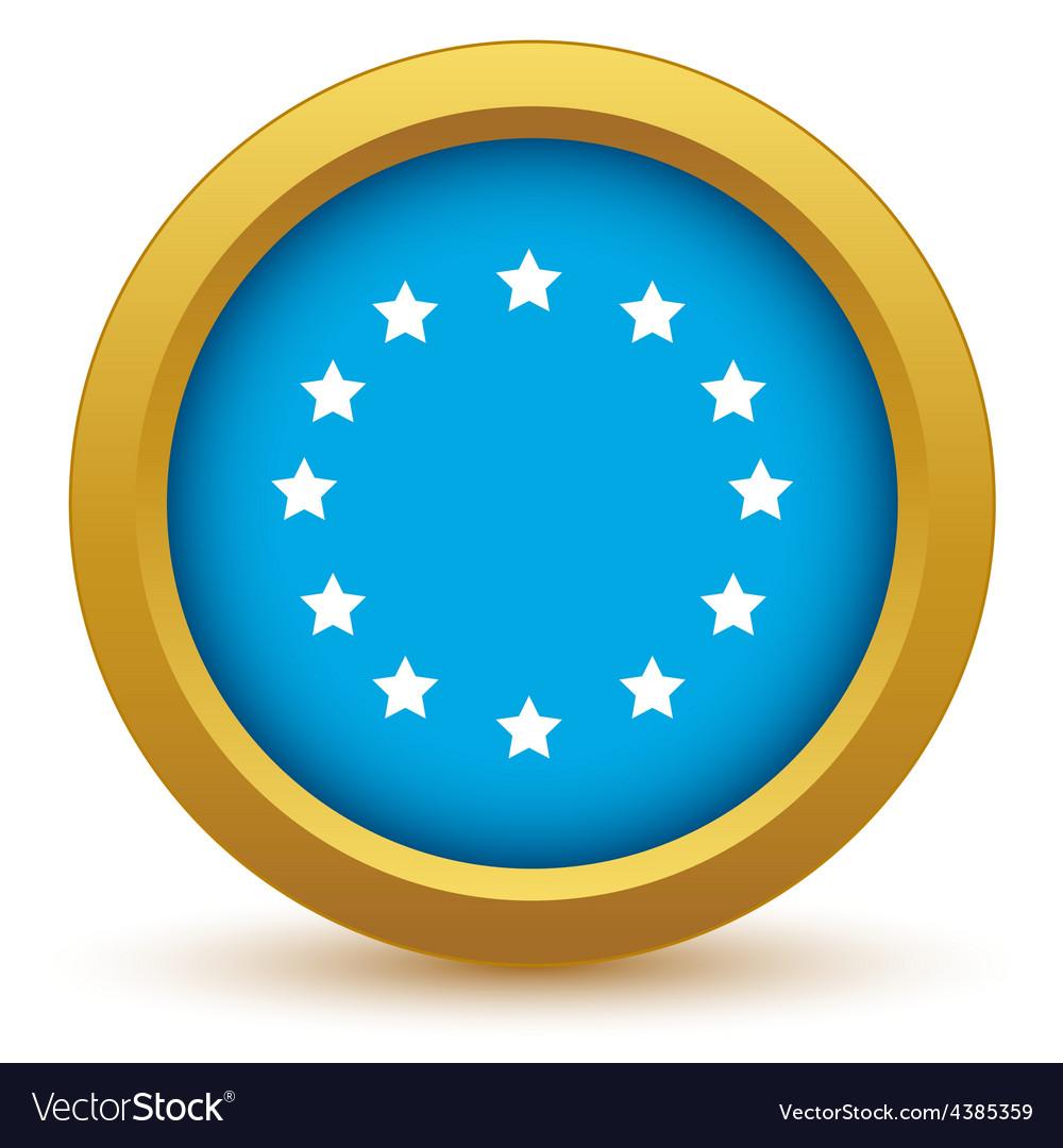 Gold European Union icon vector image