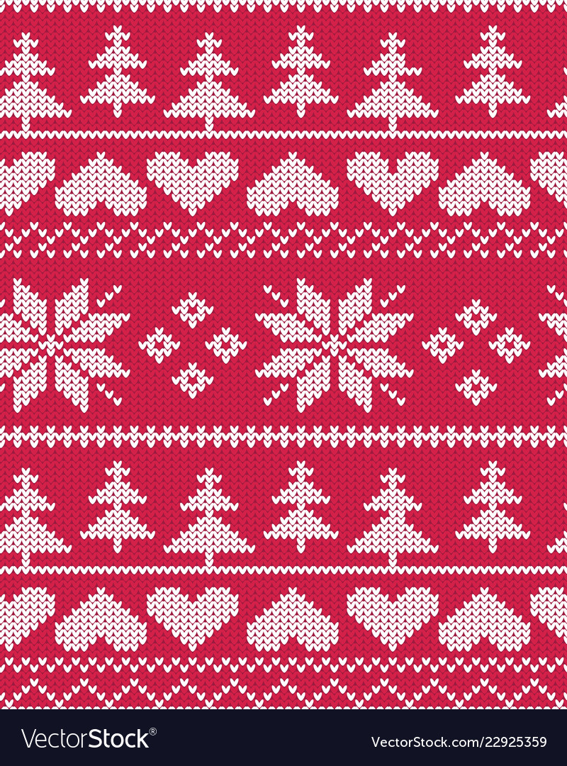 80d8ae8cb3454f Red fair isle christmas pattern royalty free vector image jpg 800x1080 Red fair  isle pattern