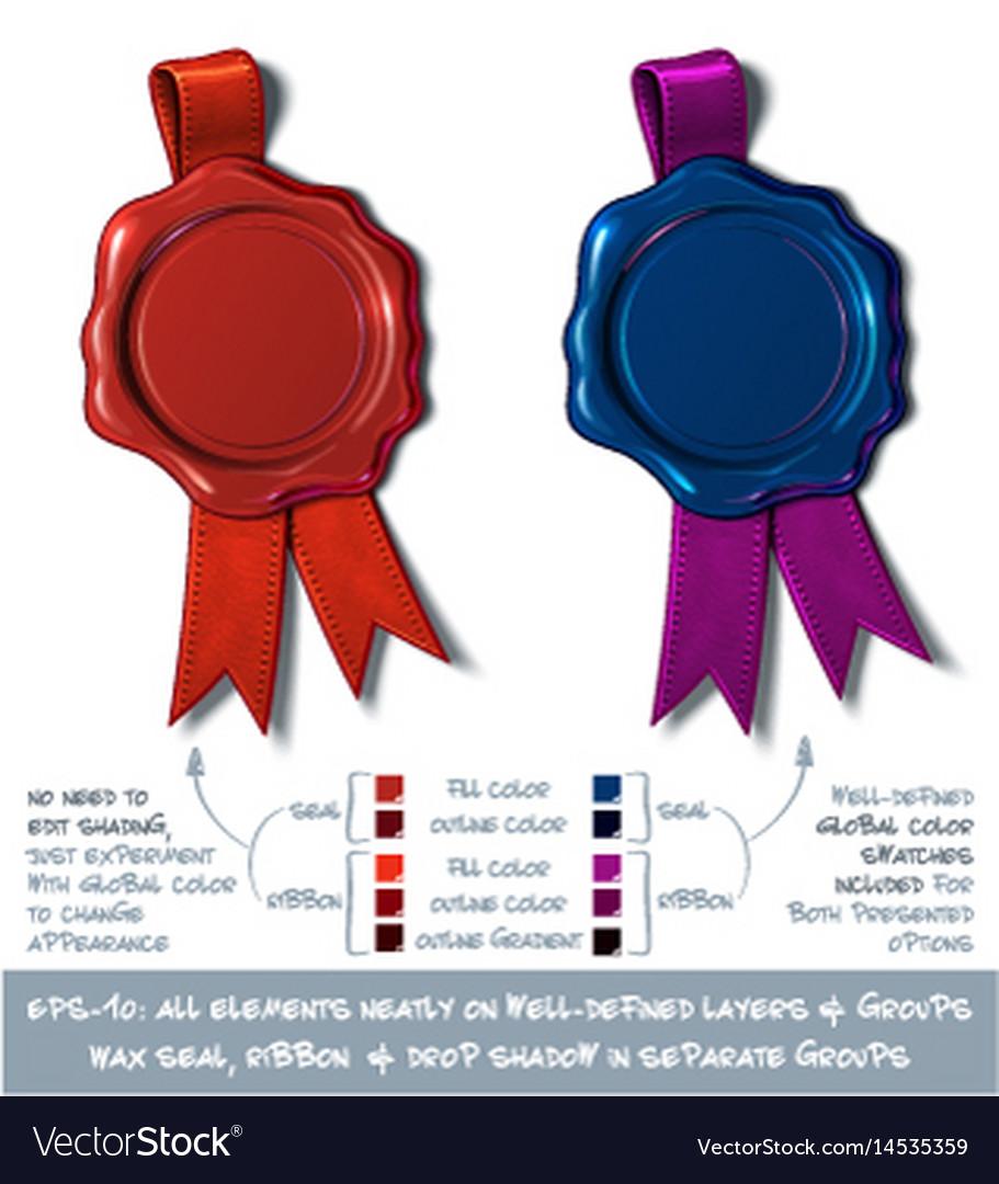 Wax shield blank - red and dark blue