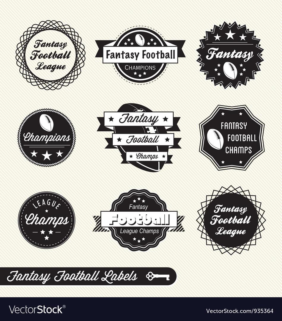 Fantasy Football Labels