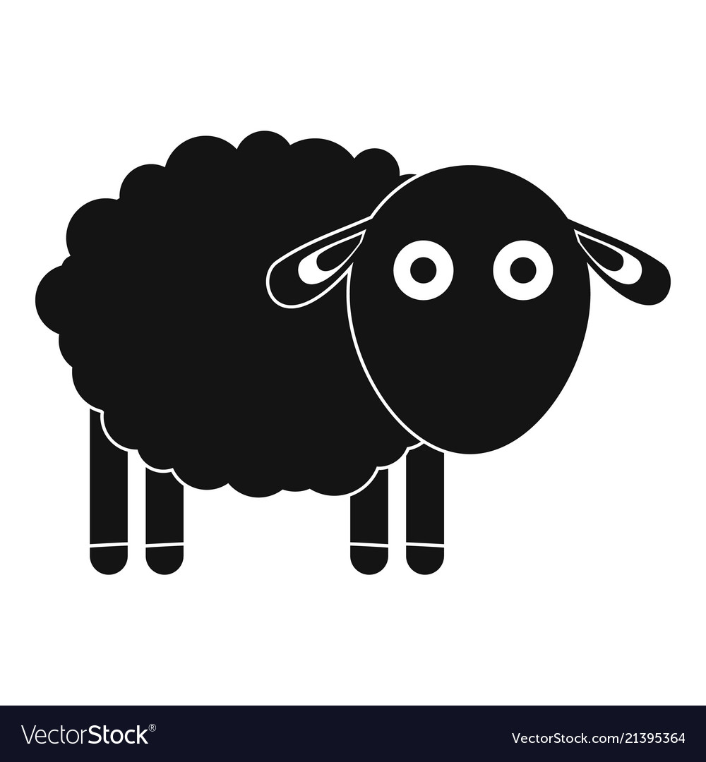 Funny sheep icon simple style