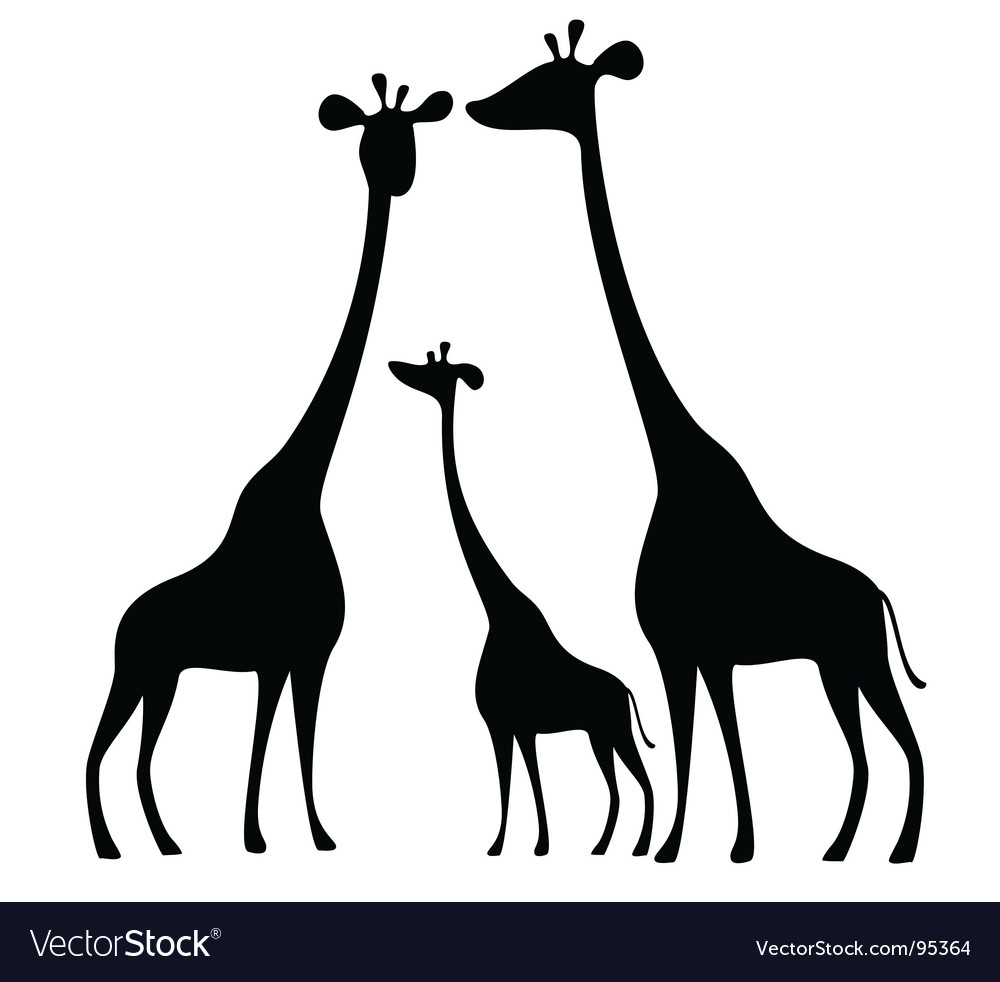 giraffe royalty free vector image vectorstock rh vectorstock com giraffe vector png giraffe vector free download