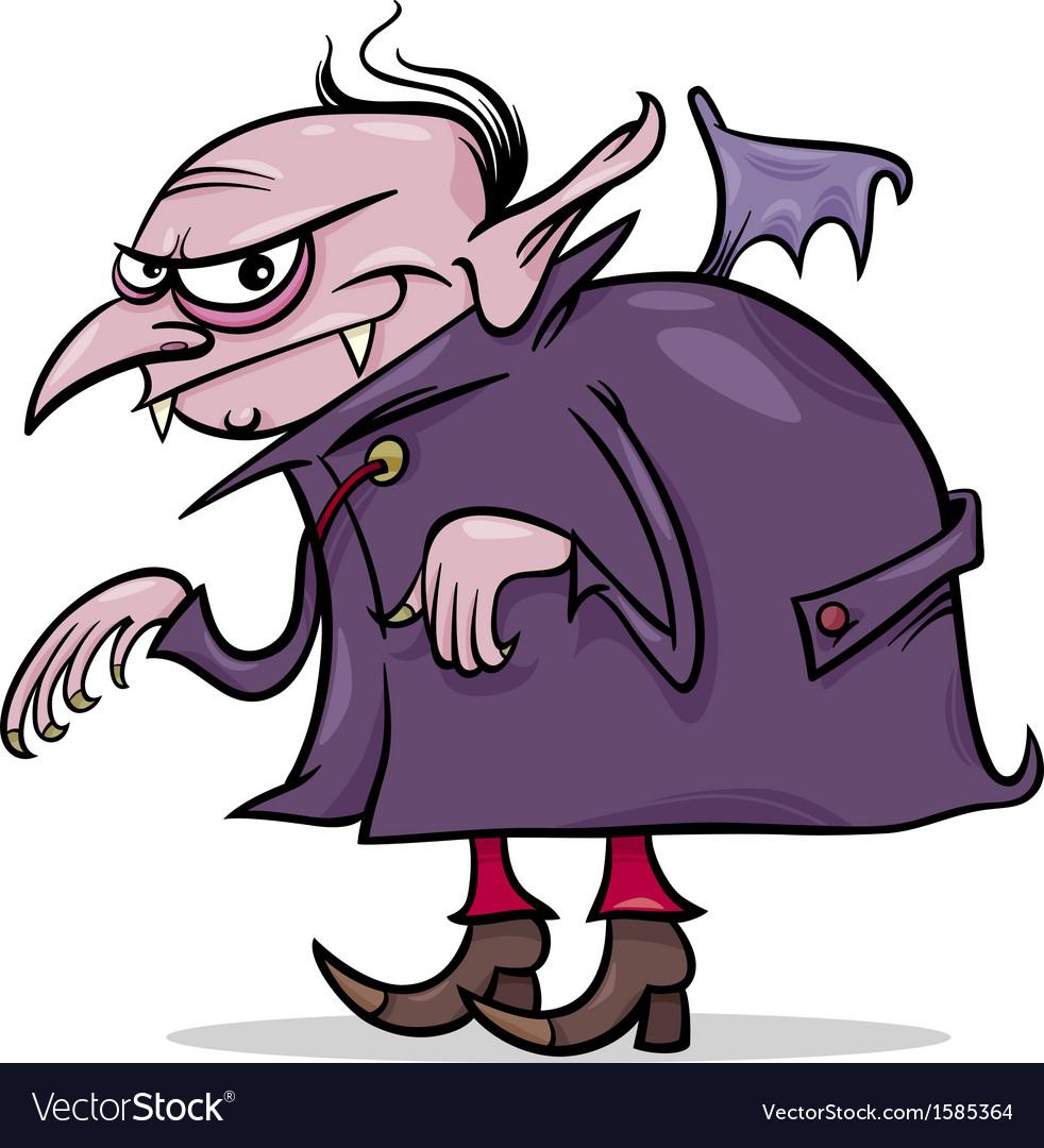 Halloween vampire cartoon