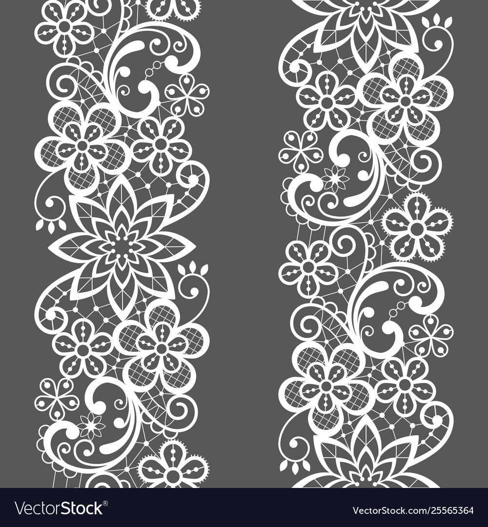 Lace Seamless Pattern Repetitive Design Royalty Free Vector
