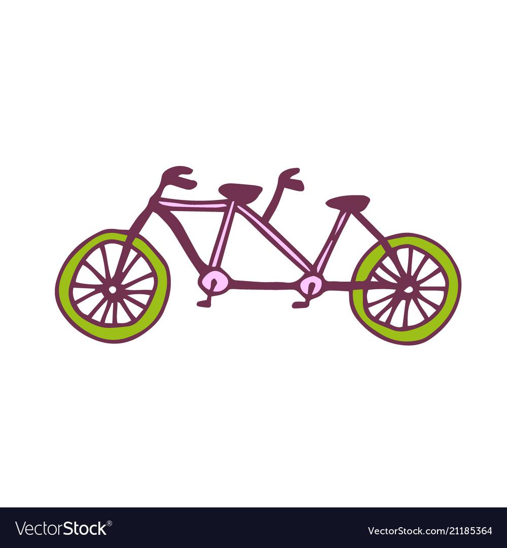 Tandem bike icon travel printed art