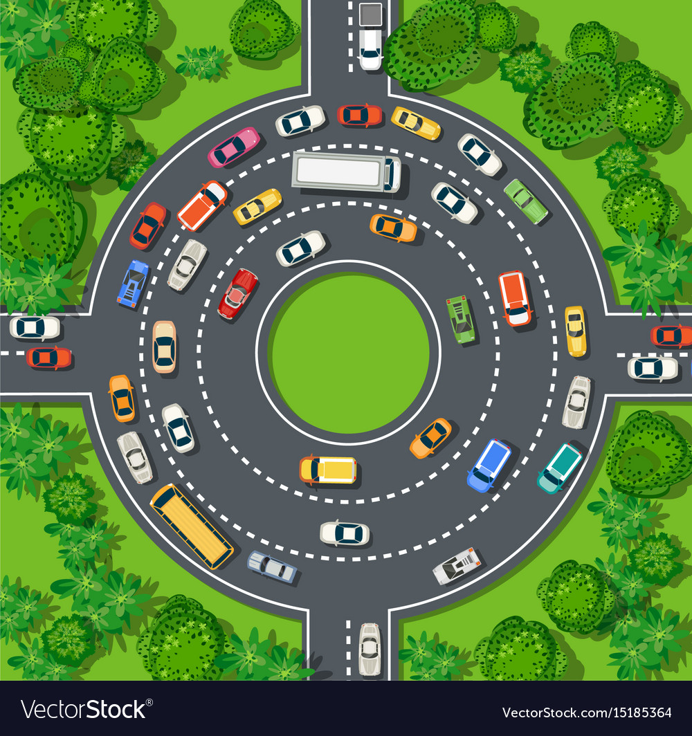 Top view of city map crossroads of urban streets