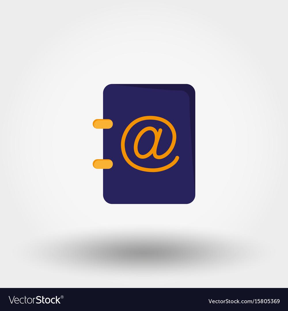 Address book vector image