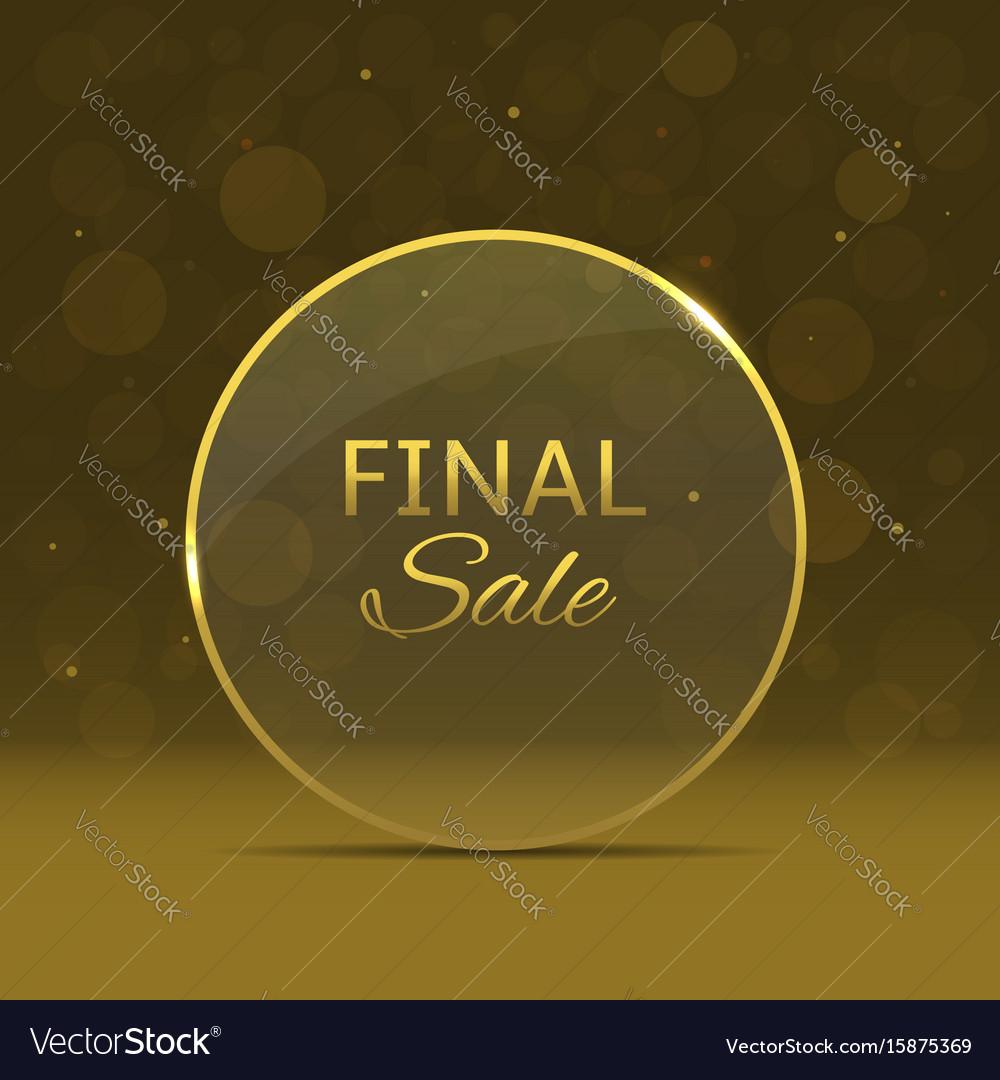 Final sale label vector image