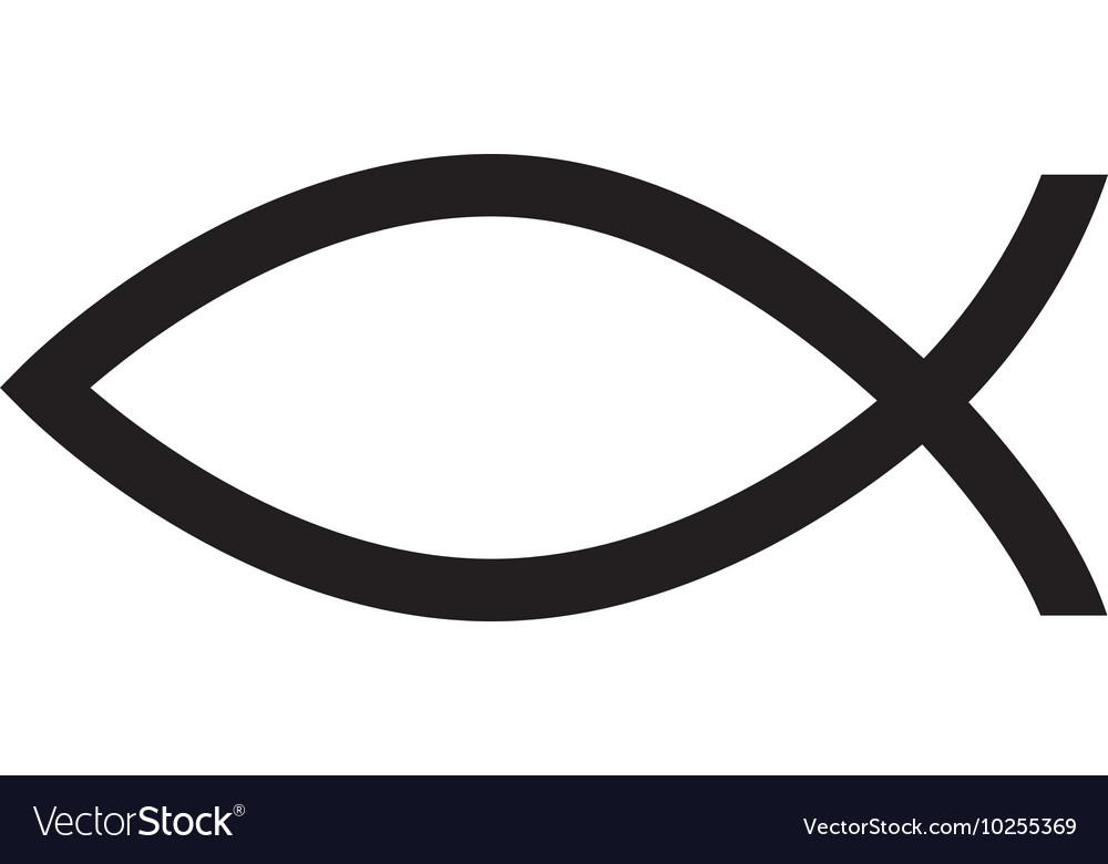 Fish christ religion icon vector image