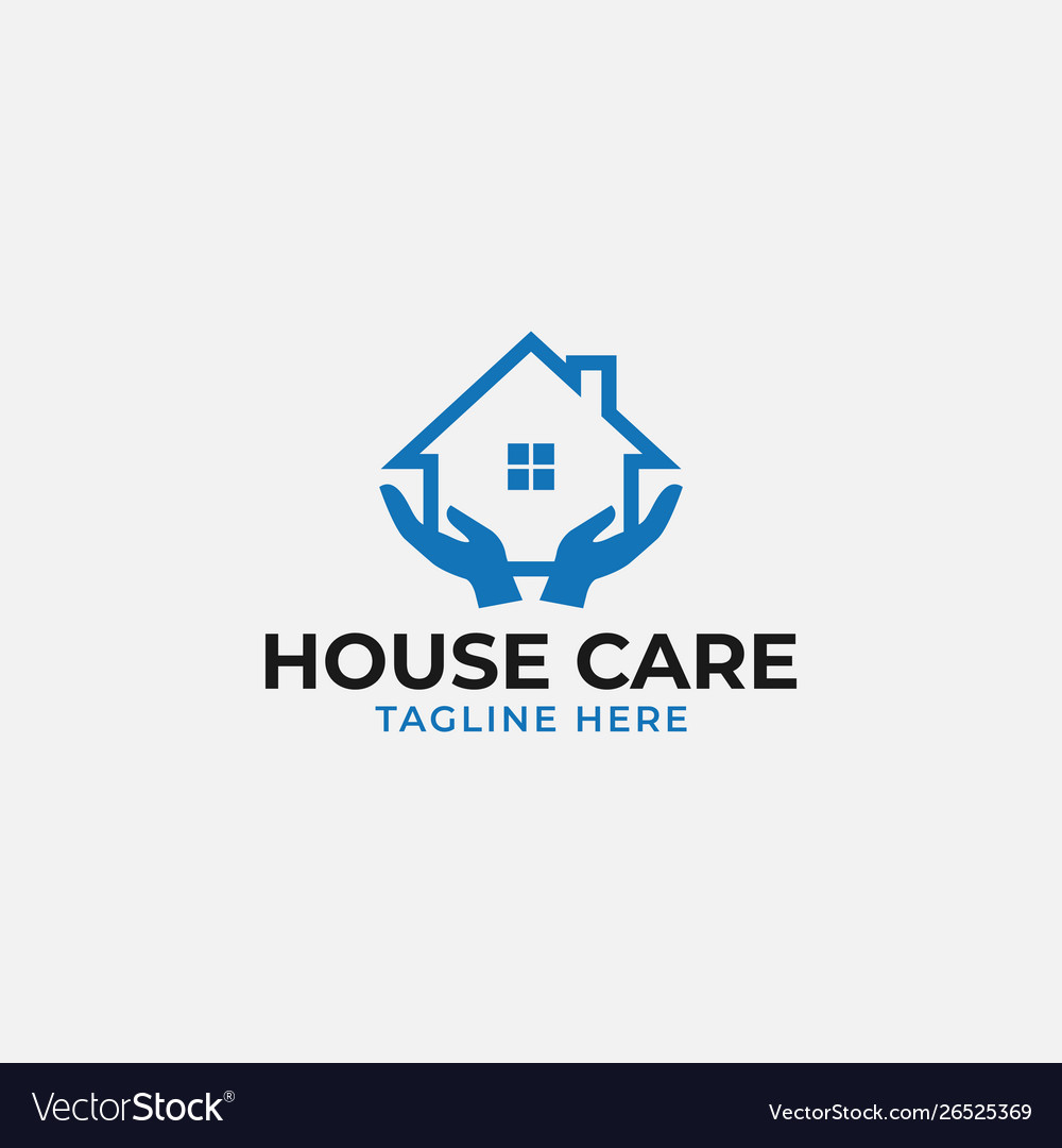 House care logo design template isolated