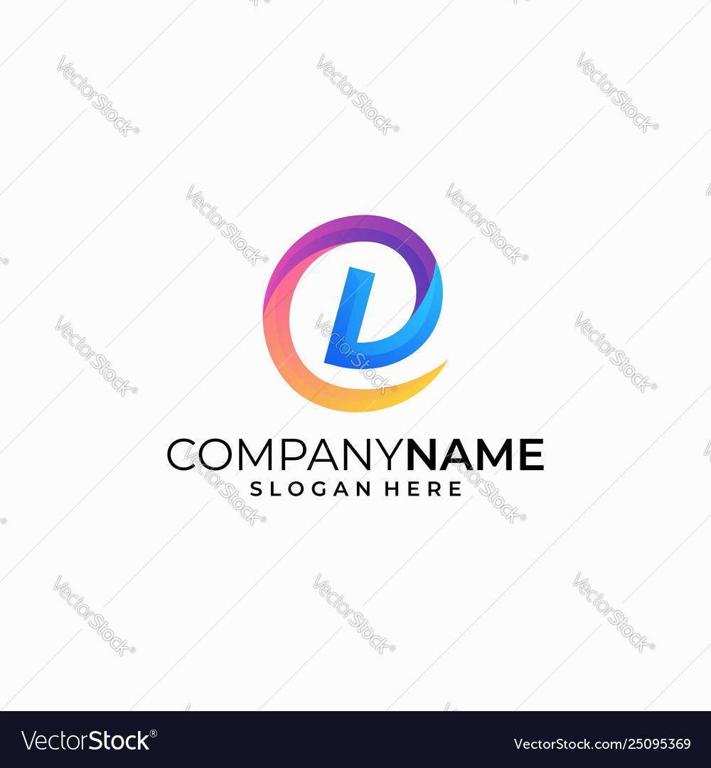 Letter d concept design template