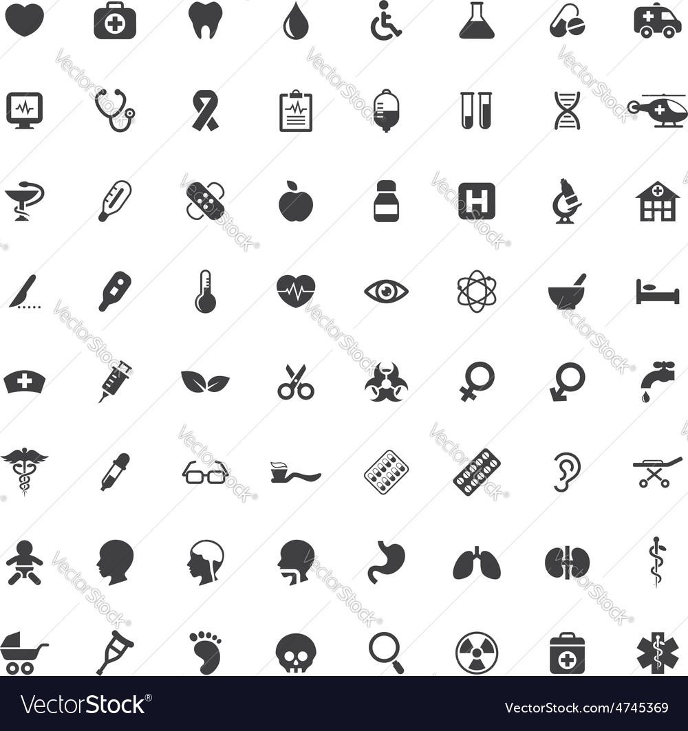 Set medical icons