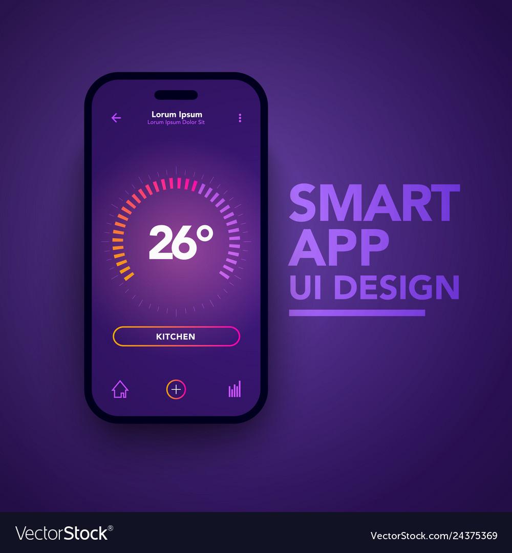 Smart home app temperature control center