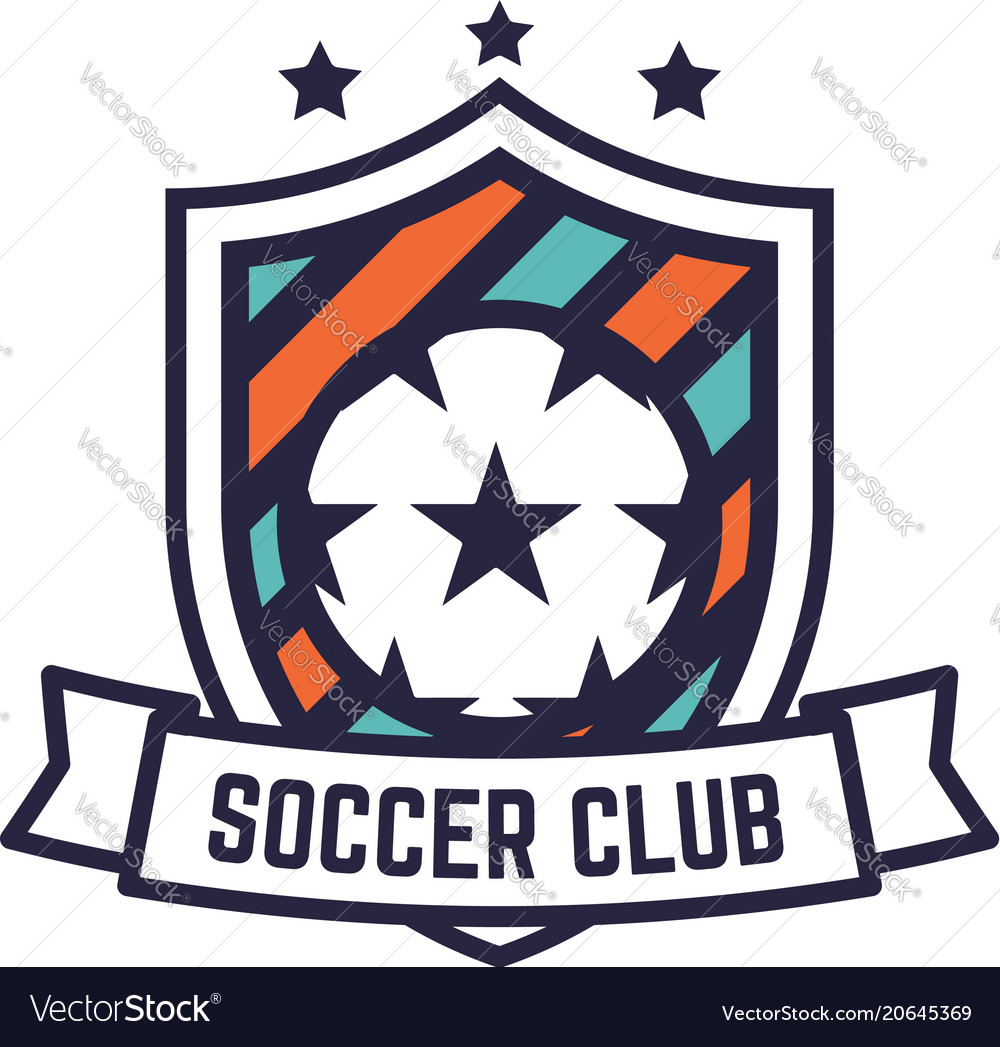 soccer or football club logo or badge royalty free vector