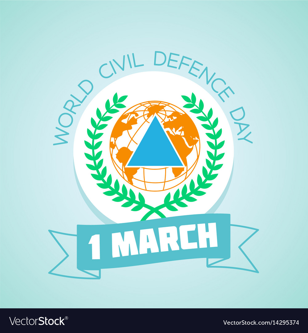 1 march world civil defence day vector image