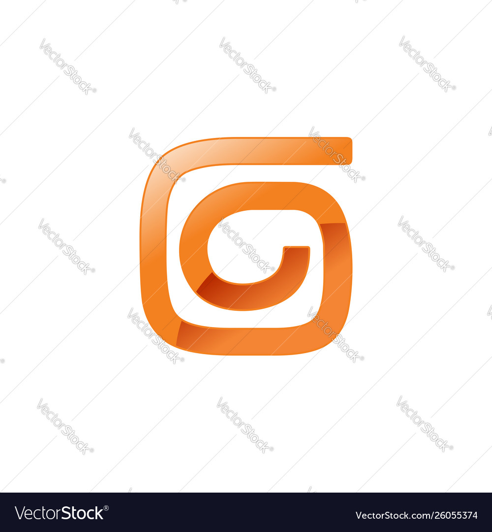Abstract spiral form letter g shape symbol design
