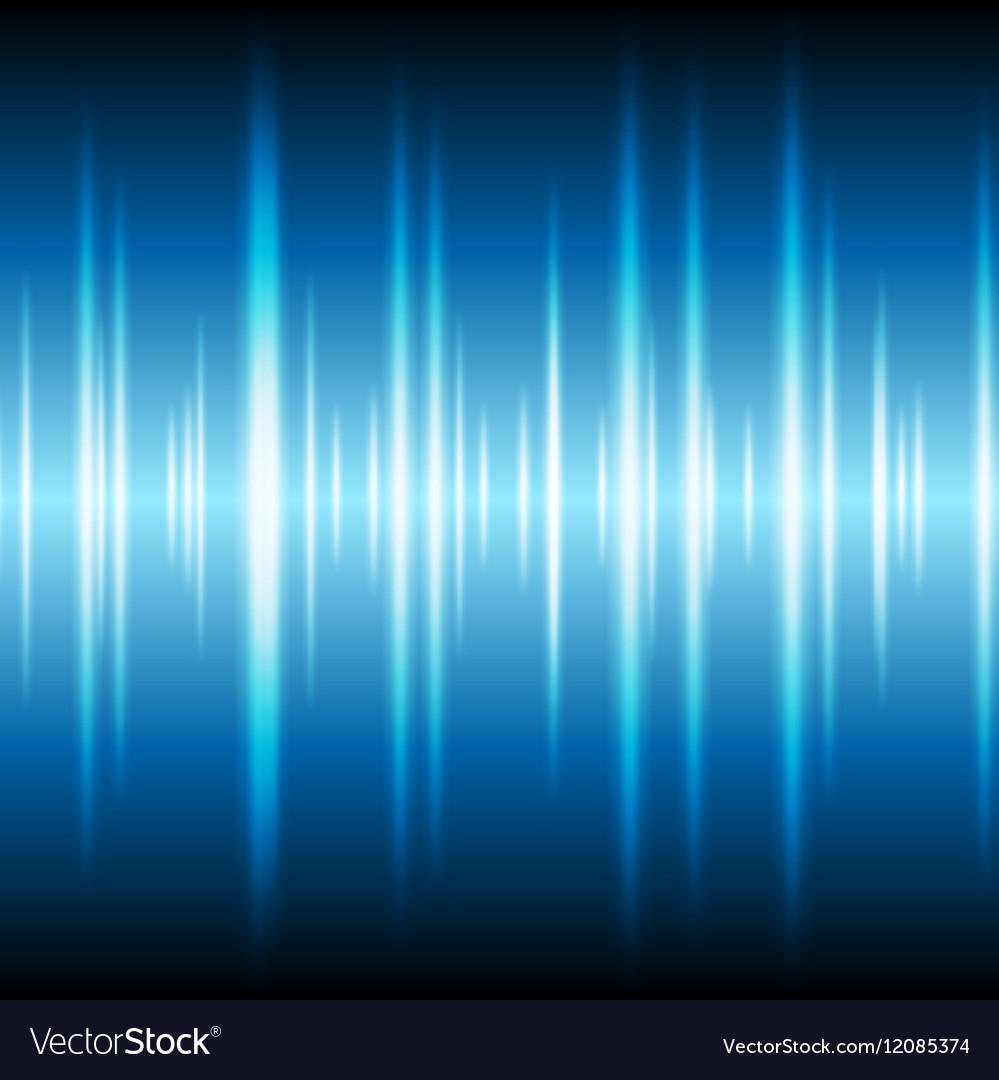Blue glowing tech waveform equalizer background