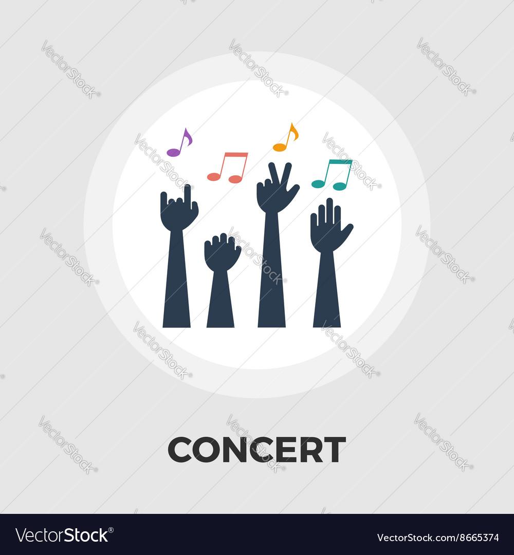 Concert flat icon