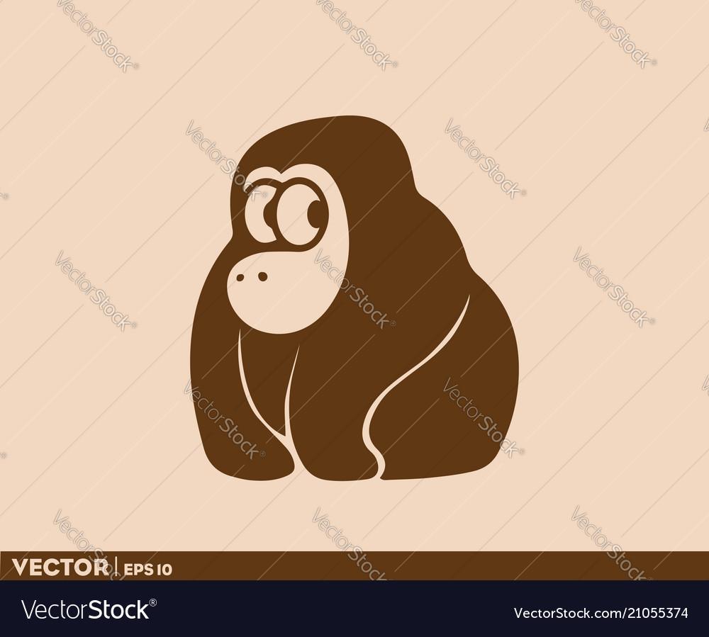 Cute ape logo