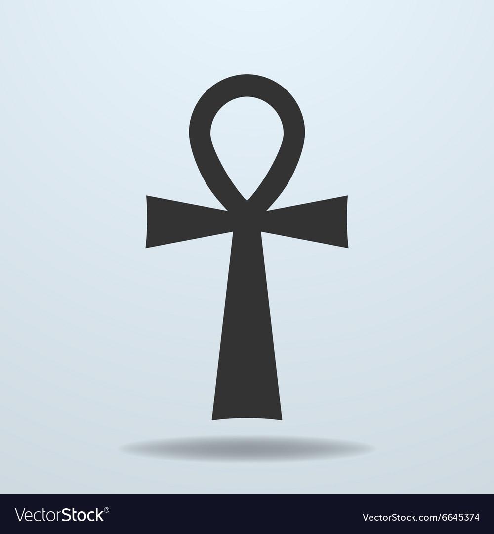 Egyptian cross ankh symbol icon vector image