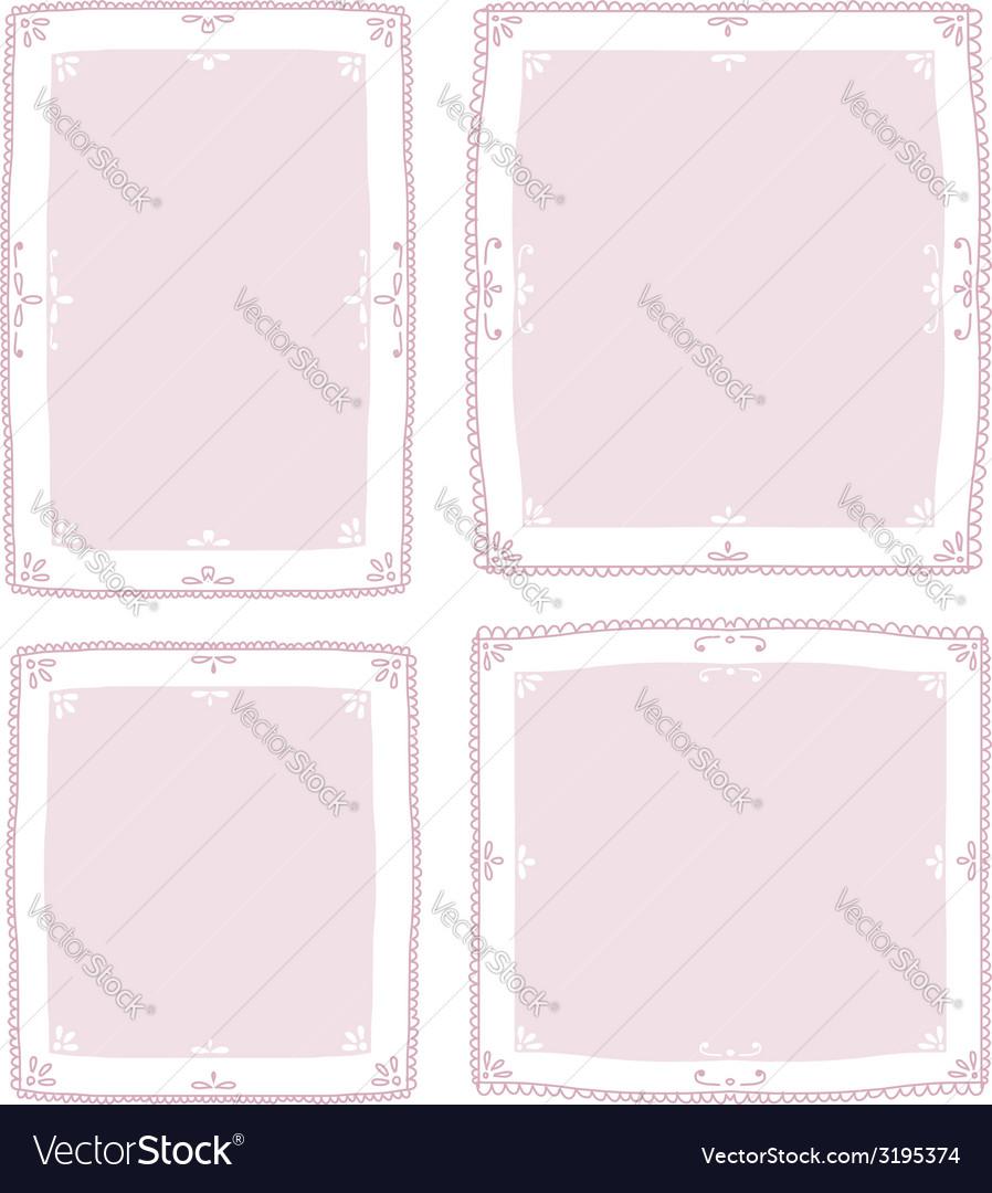 Floral vignette set for your design vector image